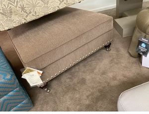 Square Ottoman by Bassett with Nailheads