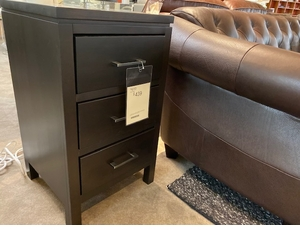 Three Drawer Modern Nightstand