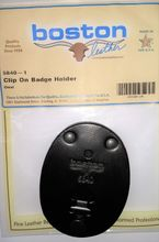 Leather Oval Badge Holder