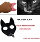 Black Cat Defense Keychain