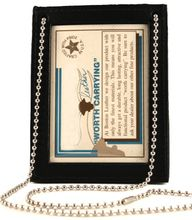 Boston Leather Double ID Holder with Chain