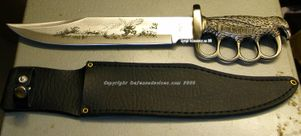 Eagle Bowie Knife with Fingerguards