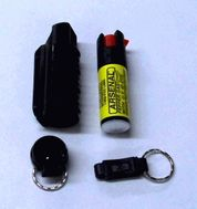 Fox Keychain Pepper Spray Free QR