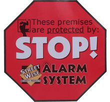 Security Alarm Stickers Set of 6