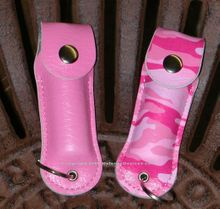 Keychain  Pink Case for pepper spray (pepper spray not included)