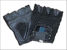 Leather Bicycle Gloves Half finger (fingerless)