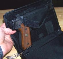 Leather Organizer with Pistol Holster