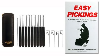Lock Picking Set - 14 PXS- Instructions Book Plastic Handles