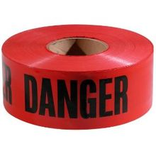 Red Danger Tape Barricade 1000 ft