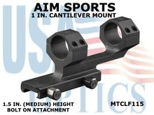 AIM SPORTS 1 IN. CANTILEVER MOUNT - 1.5 IN. (MEDIUM) HEIGHT - BOLT ON