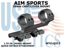 AIM SPORTS 30mm CANTILEVER MOUNT - 1.75 IN. (HIGH) HEIGHT - QUICK DETACH