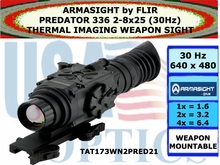 ARMASIGHT by FLIR PREDATOR 336 2-8x25 (30 Hz) THERMAL IMAGING WEAPON SIGHT