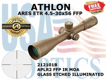 ATHLON ARES ETR 4.5-30x56 APLR2 FFP IR MOA ILLUMINATED - BROWN