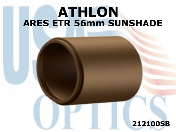 ATHLON ARES ETR 56mm RIFLESCOPE SUNSHADE - BROWN