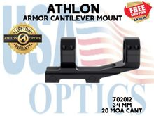 ATHLON ARMOR 34mm CANTILEVER SCOPE MOUNT 20 MOA CANT