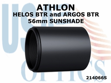 ATHLON HELOS BTR and ARGOS BTR 56mm RIFLESCOPE SUNSHADE - BLACK