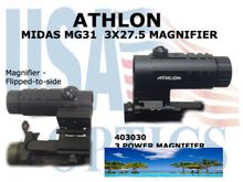 """ATHLON MIDAS MG31 3x27.5 MAGNIFIER <STRONG><FONT COLOR =""""RED"""">1 LEFT</STRONG></FONT>"""