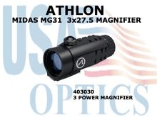 "ATHLON MIDAS MG31 3x27.5 MAGNIFIER <STRONG><FONT COLOR = ""RED"">1 LEFT - SHOW DEMO - FULL MANUFACTURERS WARRANTY</STRONG></FONT><BR>"