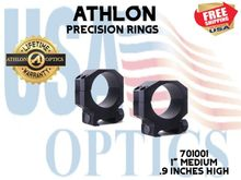 """ATHLON PRECISION RINGS 1"""" MED .9 INCHES HIGH"""