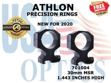 ATHLON PRECISION RINGS 30mm MSR 1.443 INCHES HIGH