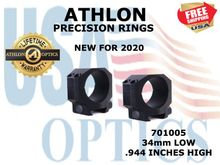 ATHLON PRECISION RINGS 34mm LOW .944 INCHES HIGH