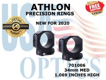 ATHLON PRECISION RINGS 34mm MED 1.069 INCHES HIGH