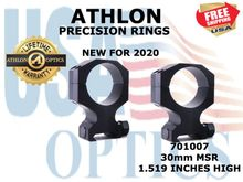 ATHLON PRECISION RINGS 34mm MSR 1.519 INCHES HIGH