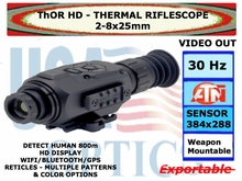 ATN ThOR HD 384 2-8x25<BR>THERMAL RIFLESCOPE
