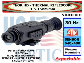 ATN ThOR HD 640 1.5-15x25<BR>THERMAL RIFLESCOPE