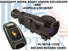 DIGISIGHT N550A NIGHT VISION RIFLE SCOPE<BR> 4.5x AND LEUPOLD LTO-QUEST BUNDLE