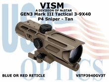 GEN3 MARK III TACTICAL 3-9x40/P4 SNIPER - TAN