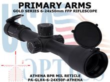 PRIMARY ARMS GLx4 6-24x50 FFP RIFLE SCOPE with ATHENA BPR MIL RETICLE