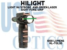 HILIGHT 1000 LM LIGHT W/STROBE AND GREEN LASER SIGHT FORE-GRIP