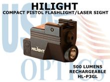 HILIGHT GREEN LASER/500 LM LIGHT COMBO - RECHARGEABLE