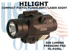 HILIGHT PISTOL GREEN LASER/500 LM LIGHT WITH STROBE