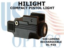 HILIGHT PISTOL LIGHT 500  LUMEN - RECHARGEABLE