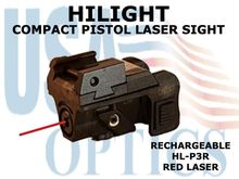 HILIGHT PISTOL RED LASER SIGHT - RECHARGEABLE