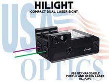 HILIGHT PURPLE AND GREEN DUAL LASER SIGHT