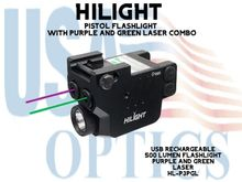 HILIGHT PURPLE AND GREEN LASER WITH 500 LM FLASHLIGHT