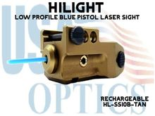 HILIGHT STEALTH SERIES LOW PROFILE BLUE LASER SIGHT - TAN