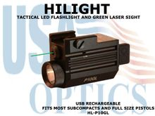 HILIGHT TACTICAL LED FLASHLIGHT AND GREEN LASER SIGHT