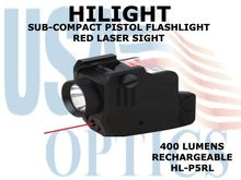 HILIGHT TACTICAL SUB-COMPACT PISTOL FLASHLIGHT/RED LASER COMBO