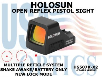 """HOLOSUN OPEN REFLEX PISTOL SIGHT - RED (BATTERY ONLY) <STRONG><FONT COLOR = """"RED""""> - NEW PRODUCT UPDATES</FONT></STRONG><BR>"""