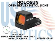 """HOLOSUN CONCEALED CARRY PISTOL OPEN REFLEX OPTICAL SIGHT(PICATINNY RAIL MOUNT NOT INCLUDED)<STRONG><FONT COLOR = """"RED""""> - NEW PRODUCT</FONT><BR></STRONG>"""