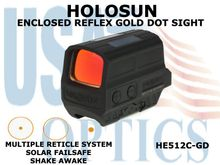 HOLOSUN ENCLOSED REFLEX GOLD DOT SIGHT