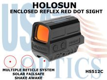 HOLOSUN ENCLOSED REFLEX SIGHT - RED - BATTERY/SOLAR