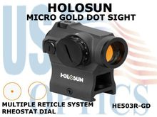 HOLOSUN GOLD DOT SIGHT - RHEOSTAT DIAL