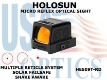 HOLOSUN MICRO ENCLOSED REFLEX OPTICAL SIGHT - RED - BATTERY/SOLAR