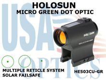 HOLOSUN MICRO GREEN DOT OPTIC - BATTERY/SOLAR