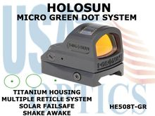 HOLOSUN MICRO GREEN DOT SYSTEM - TITANIUM HOUSING